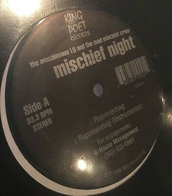 "The Mischievous LQ And The Mad Mischief Crew ‎– Mischief Night (EP) ""96 Rare NM"