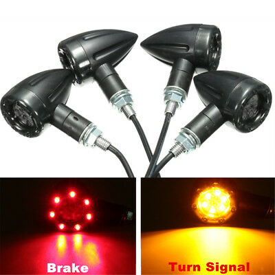 4 Motorcycle LED Turn Signal Indicator light Brake Running Lamp for Honda Yamaha
