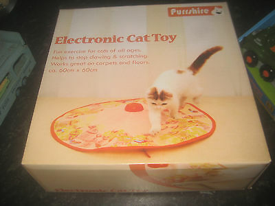 Purrside Electronic Motorised Interactiive Cat's Undercover Yellow Cat Toy