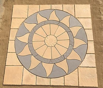 Aztec Sun circle sq off patio paving slabs stone ( FREE DELIVERY NOTE EXCEPTIONS