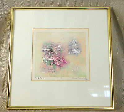 Rare Shoichi Hasegawa Signed Print Engraving Picture Japanese Contemporary Art