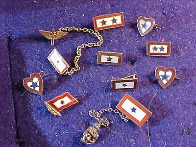 Original Wwii Us Son In Service Pin Large Lot - Many Sterling