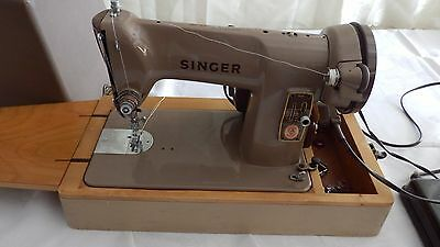 Vintage Singer Sewing Machine 185K Model Ex Con