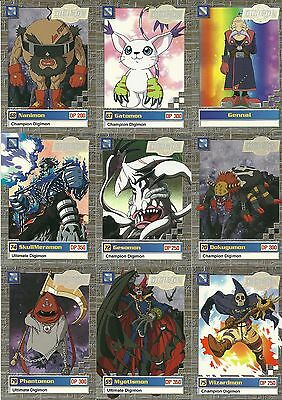 9 Card Lot Of Digimon Trading Game Cards