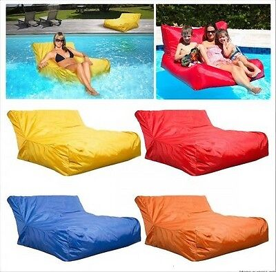 In Outdoor Floating Swimming Pool Water Play Toy Bean Bag Lounge Seat Sofa Chair