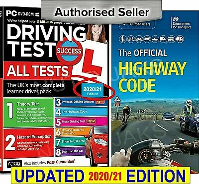 Driving Theory Test & Hazard 2017 CD Rom DVD & Official Highway Code Book wt..