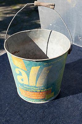 Vintage All Detergent Bucket Faded No Holes Lid For Automatic Washers