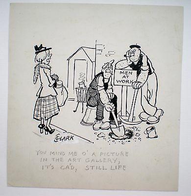 ORIGINAL CARTOON by Beano cartoonist. c. 1950's