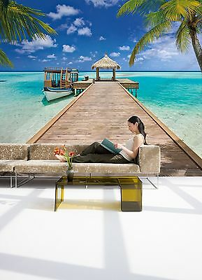 Wall Mural Photo Wallpaper BEACH RESORT TROPICAL Living Room Decor 368x254cm