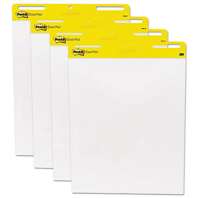 Self Stick Easel Pads, 25 x 30, White, 4 30 Sheet Pads/Carton 559VAD