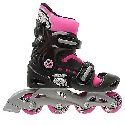 No Fear Adjustable Skates Size 5-8 WITH HELMET