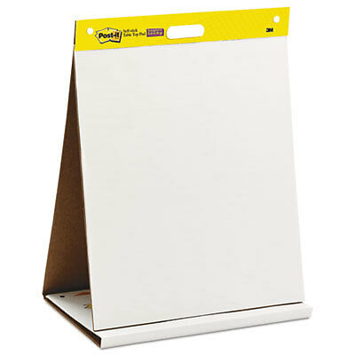 Self Stick Tabletop Easel Unruled Pad, 20 x 23, White, 20 Sheets 563R