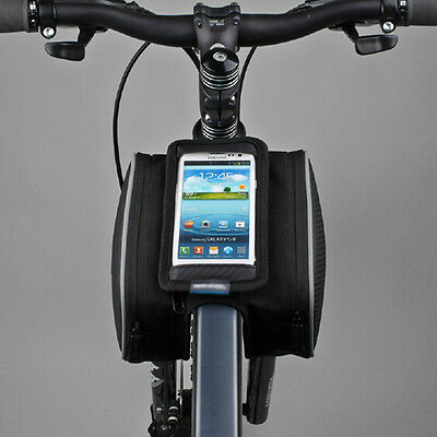 Cycling Bike Bicycle Front Top Tube Frame Pannier Double Bag Pouch For Cellphone