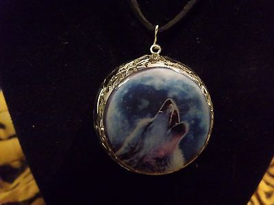 Orgone Energy - OrgoneIAM Pendant w Necklace Wolf Moon Sacred Protection