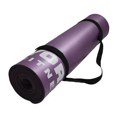 York Deluxe Fitness Mat Exercise Large 10mm Thick Yoga Gym Training Workout