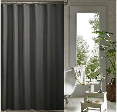 Charcoal grey shower curtain 2.2m drop new free shipping
