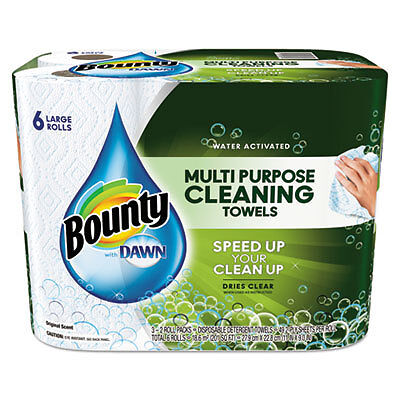 Paper Towels with Dawn, 2-Ply, 11 x 14, 49/Roll, 6/Pack 92380