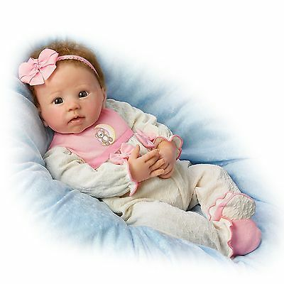 Ashton Drake - MADDIE, LOVE YOU TO THE MOON baby girl doll by Linda Murray