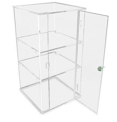 Large Premium Crystal Clear Acrylic Lockable display Case.