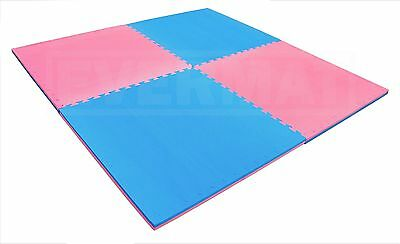 20mm Blue & Pink Martial EVA Kids Play Mat For Girls & Boys