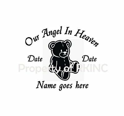 Personalized Memory Our Little Angel Baby Child #2 Vinyl Decal Wall Car Window