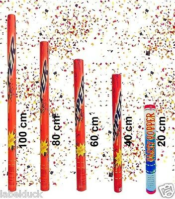 Pack of 10 Confetti Party Poppers Air Cannon Shooter Birthday Party Xmas 40cm