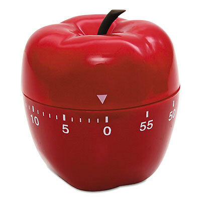 """Shaped Timer, 4"""" dia., Red Apple 77042"""