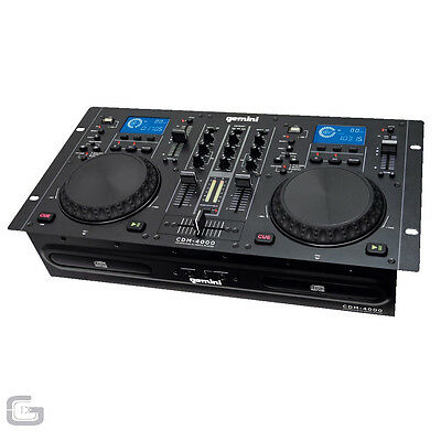 Gemini Cdm-4000 Cdm4000 Dual Mp3 Usb Cd Player Rackmount Dj Mixing Console