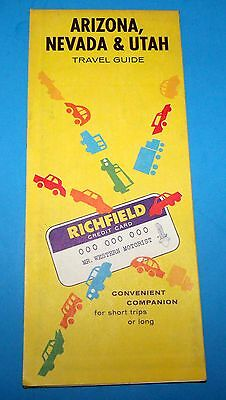 Vintage Richfield Oil Arizona Nevada Utah Map 1962
