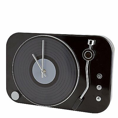 Retro Classic Record Player Black Vinyl Turntable Style Music Wall Clock