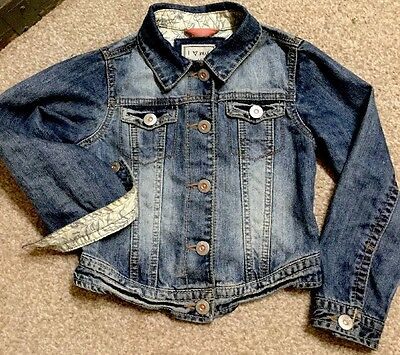 Girl's Denim Jacket By Next Size 5-6 Years