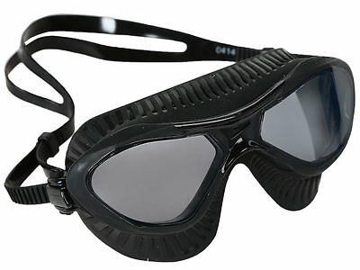 New Speedo Caliber Swim Mask Triatlhlon Swim Swimming Googles Black