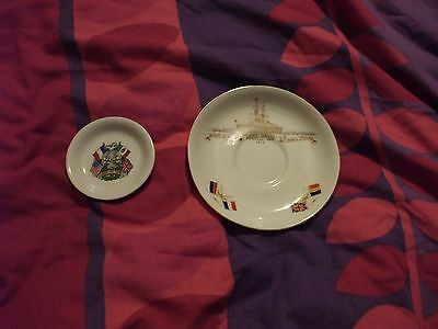 Ww1 - Royal Winton Pin Dish 1918 And Jackson & Gosling Saucer 1914