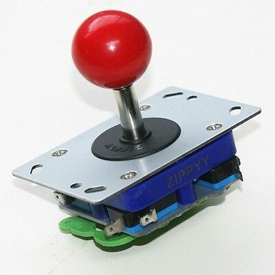 Classic Zippy 2/4/8 way arcade game joystick red ball top - USA Seller