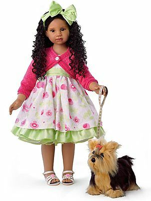 "KAYLA'S SUNDAY STROLL CHILD DOLL BY ANGELA SUTTER - Measures 28"" (71.1 cm) H"