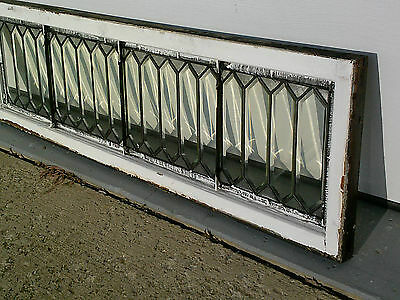 Antique Beveled Transom Windows~60 X 18 inches ~Heavy Leaded Glass