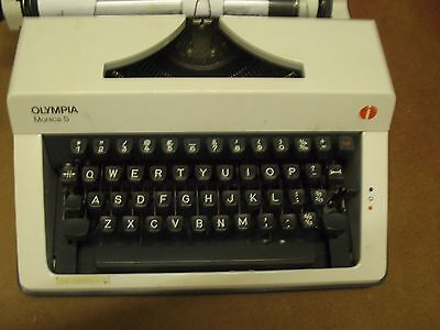 Vintage 0ympia monica s Portable Typewriter and Carry Case Retro Writer