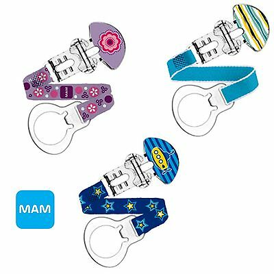 MAM Soother Clip and Teat Cover, Dummy Clip, Dummy Holder, Dummy Stap 0M+