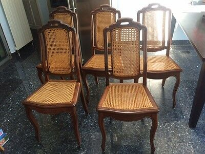 Set of 4 French Vintage Provincial Dining Chairs, Highly Decorative