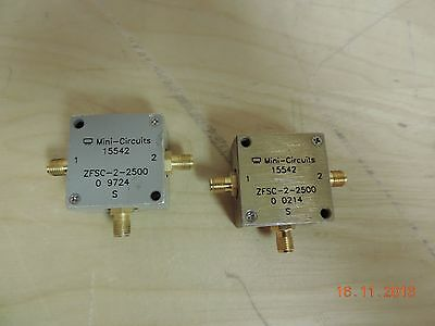 Lot x2  Mini-Circuits 2-Way Power Splitter/Combiner ZFSC-2-2500, 15442 - Used/As