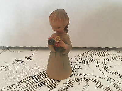 Vintage ANRI Figurine The Bouquet  Girl with a Flowers Retired