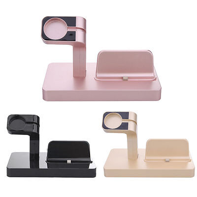 Charging Dock Stand Station Charger Holder for Apple Watch iWatch iPhone