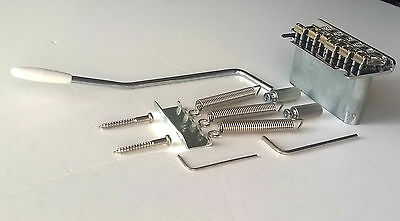 2 point Strat style Tremolo Bridge: steel saddles: Full Size block: Stratocaster