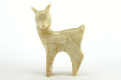 A small hand carved stone/marble Russian deer. Vintage