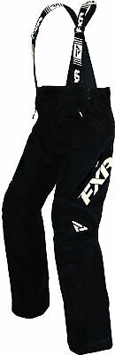 FXR Mens Black/White X System Insulated Snowmobile Pants Snow Snocross