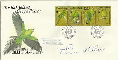 Ernie Wise signed FDC Norfolk Island First Day Cover Comedy Morecambe and Wise