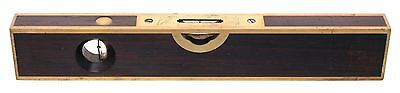 Stratton Brothers Twelve-Inch Length Brass Bound Level - Patented Oct. 4, 1887