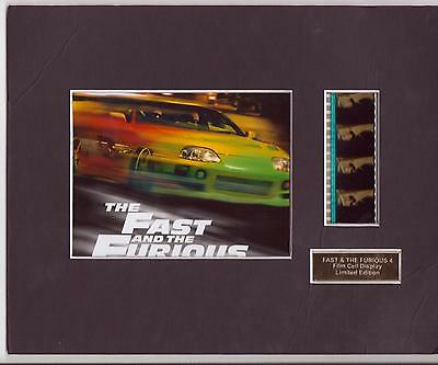 Fast And Furious 4 Film Cell Display Limited Edition Rare