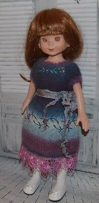 """Hand Knit Dress & Hat for 14""""  Betsy McCall Dolls"""