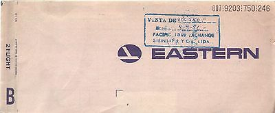 USA EASTERN Airlines Ticket Boarding Pass #9203750246